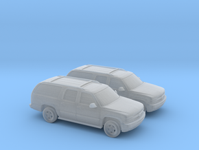 1/160 2X 2000 Chevrolet Suburban in Frosted Ultra Detail
