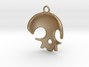Skull in Matte Gold Steel