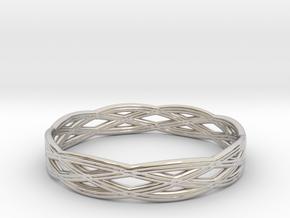 Basic ring(Japan 10,USA 5.5,Britain K)  in Rhodium Plated Brass