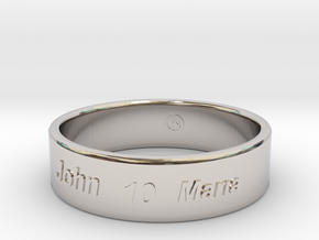 Anniversary 10 years together in Rhodium Plated Brass