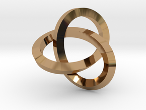 Knotted Mobius Band (Lg) in Polished Brass