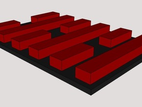 Arashikage Base 1 in Red Processed Versatile Plastic