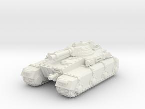 Irontank w. Light Turret in White Natural Versatile Plastic