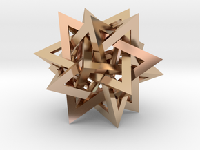 Tetrahedron 5 Compound in 14k Rose Gold Plated Brass