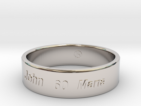 Anniversary 60 years together in Rhodium Plated Brass