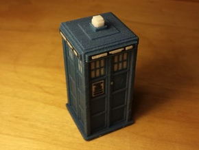 Pixelated Tardis (Modern-era) in Full Color Sandstone