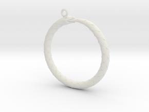 Ouroboros Pendant in White Natural Versatile Plastic