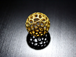 Voronoi Sphere in Polished Gold Steel