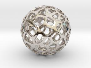 Voronoi Sphere in Rhodium Plated Brass
