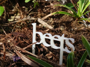 Beets - Garden Sign in White Natural Versatile Plastic