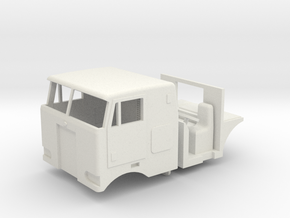 1/64 Peterbilt 352 Cab, Interior, grill and headli in White Strong & Flexible
