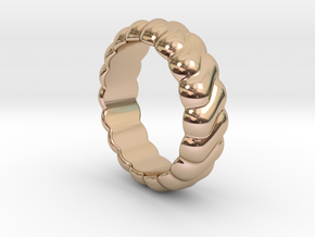Harmony Ring 25 - Italian Size 25 in 14k Rose Gold Plated Brass