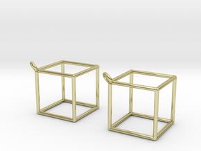 Cube earrings in 18k Gold Plated Brass