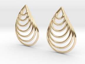 Teardrop Earrings in 14K Yellow Gold