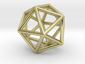Icosahedron pendant in 18k Gold