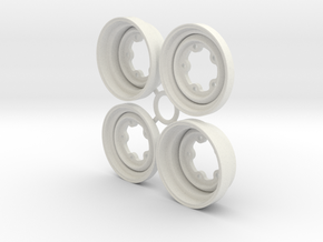 SRB VW style Wheels 1.5 in White Natural Versatile Plastic