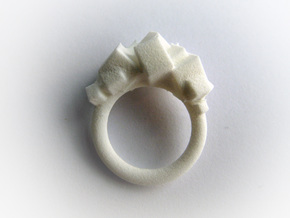 Rock Ring size 6 in White Strong & Flexible