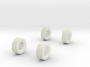 1/87-matv-v2-wheels (repaired) in White Strong & Flexible