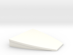 HO scale platform end (100mm width) in White Processed Versatile Plastic