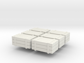 HO scale timber bundles - cargo in White Strong & Flexible