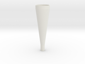conical horn in White Natural Versatile Plastic
