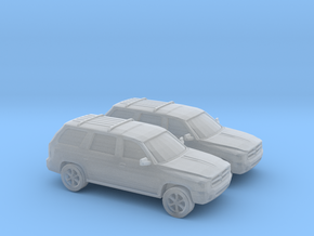 1/160 2X 1999 Dodge Durango in Smooth Fine Detail Plastic