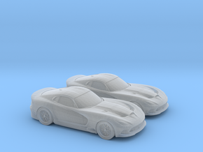 1/160 2X 2014 Dodge Viper in Smooth Fine Detail Plastic