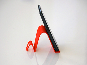 Tablet and Phone Stand in Red Processed Versatile Plastic