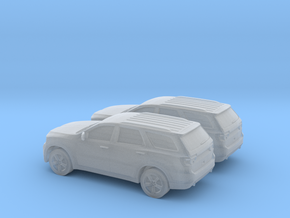 1/160 2X 2011 Dodge Durango in Smooth Fine Detail Plastic