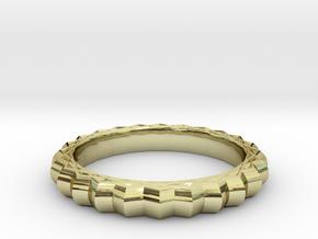 Geometric pattern ring(Japan 10,USA 5.5,Britain K) in 18k Gold