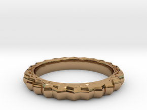 Geometric pattern ring(Japan 10,USA 5.5,Britain K) in Polished Brass