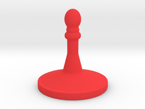 Chess Piece 2a in Red Processed Versatile Plastic