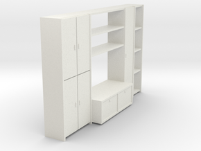 A 001-1Wohnzimmerschrank 1 in White Strong & Flexible
