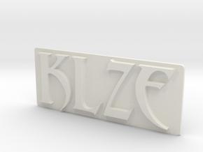 KLZE-Aban in White Natural Versatile Plastic