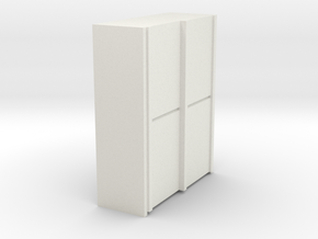 A 013 sliding closet Schiebeschrank 1:87 in White Natural Versatile Plastic