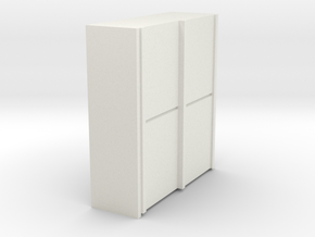 A 014 sliding closet Schiebeschrank 1:87 in White Natural Versatile Plastic