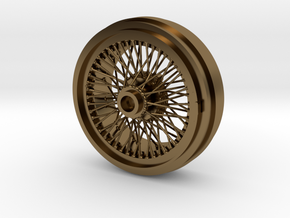 1/8 Wire Wheel Rear, with 72 spokes in Polished Bronze