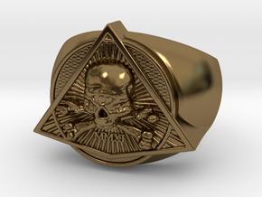 Saint Vitus Ring Size 9 in Polished Bronze