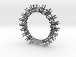 Fedina 17 stones Italian style in Fine Detail Polished Silver