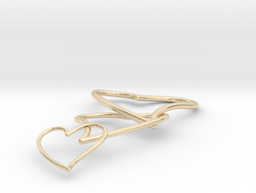 Cuore Triplo in 14K Yellow Gold