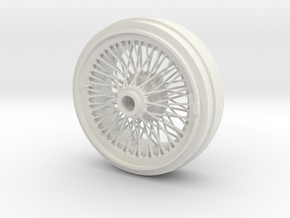 1/8 Wire Wheel Rear, with 72 spokes in White Strong & Flexible