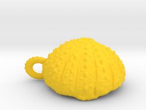 Small  Urchin Pendant in Yellow Processed Versatile Plastic