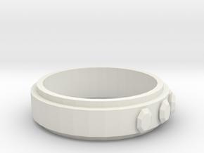 Ring (19 mm diameter)  in White Natural Versatile Plastic