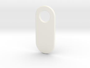 Personalised Keychain Tag in White Processed Versatile Plastic