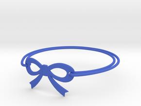 Bow Bracelet in Blue Processed Versatile Plastic