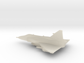 SAAB J37 Viggen 1 To 500 Scale Ready To Print in White Acrylic