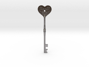 Resident Evil 2: Heart key in Polished Nickel Steel