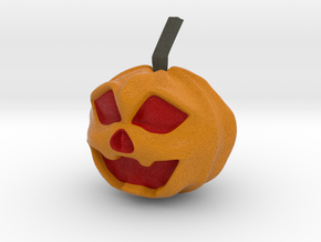 Halloween Hollowed Figurine: Surprised Pumpking in Full Color Sandstone