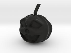 Halloween Hollowed Figurine: Surprised Pumpking in Black Natural Versatile Plastic
