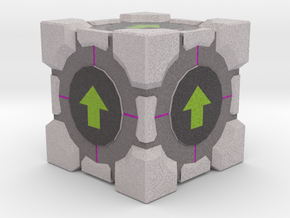 Upvote Cube in Full Color Sandstone